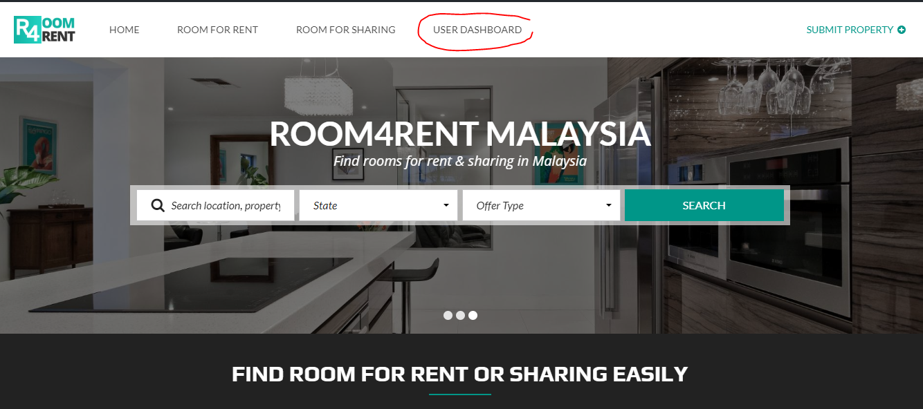 user-dashboard-button-room4rent-malaysia-website
